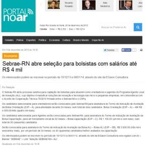 Egaion no site Portal no Ar (Rio Grande do Norte)