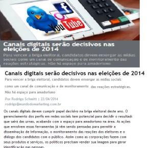 Matéria Interessante: Rede social será decisiva nas eleições de 2014