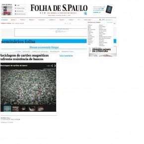 Jornal Folha S. Paulo traz especial de Economia Limpa