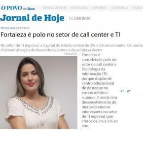 Vector é destaque do Jornal O Povo (CE)