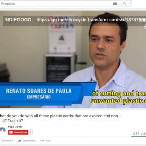 Vídeo no YouTube mostra como é fácil reciclar o cartão pós-uso