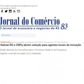 Processo Seletivo no Rio Grande do Sul é destaque no JC