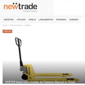 24 de março: Hyster na capa do Portal NewTrade