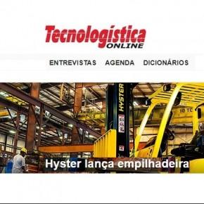 Hyster é capa do Portal Tecnologística