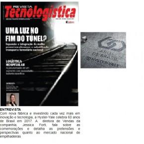 Hyster-Yale é destaque da Revista Tecnologística