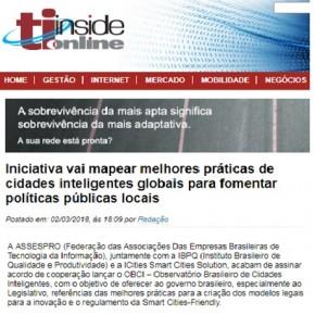 """TIInside Online explica iniciativa """"Cidades Inteligentes"""", da Assespro"""