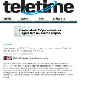 Ação da Assespro no STF é destaque do Portal Teletime