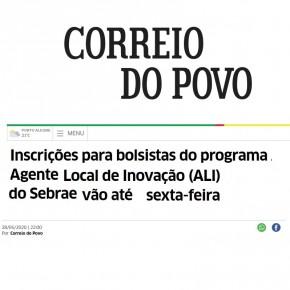 Processo Seletivo Sebrae-RS e CNPq no Correio do Povo